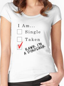 Rawr I'm A Dinosaur Women's Fitted Scoop T-Shirt