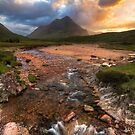 Buachaille Etive Beag at Sunset. River Coupall. Glen Coe. North West Highlands. Scotland. by PhotosEcosse