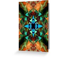 Abstract Inkblot Pattern Greeting Card