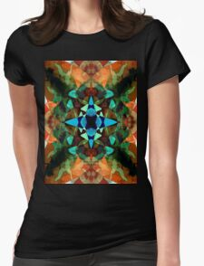 Abstract Inkblot Pattern Womens Fitted T-Shirt