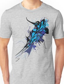 Abstract Design - Blue/Black Unisex T-Shirt