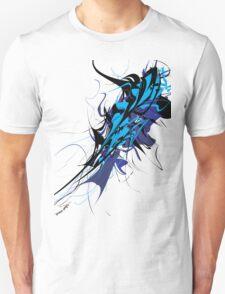 Abstract Design - Blue/Black T-Shirt