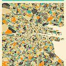 DUBLIN MAP by JazzberryBlue