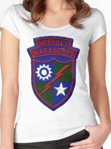 Merrill's Marauders Logo Women's Fitted Scoop T-Shirt