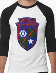 Merrill's Marauders Logo Men's Baseball ¾ T-Shirt