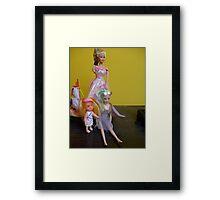 Doll family Framed Print