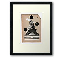 The uphill struggle for self acceptance Framed Print