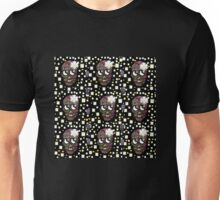 Sugar skull with florals Unisex T-Shirt
