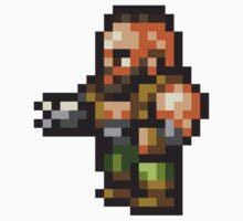 Barret Wallace sprite - FFRK - Final Fantasy VII (FF7) Kids Clothes