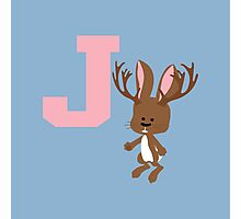 J is for Jackalope Photographic Print