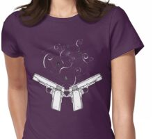 double gun negative Womens Fitted T-Shirt