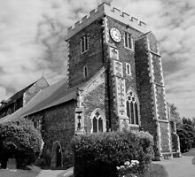 St Mary The Virgin, Stone - black and white by Dave Godden
