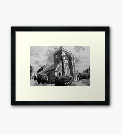 St Mary The Virgin, Stone - black and white Framed Print