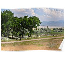 Ranch Fence Poster