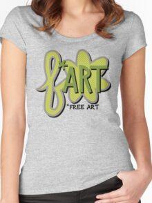 Free + Art = F*ART! Women's Fitted Scoop T-Shirt