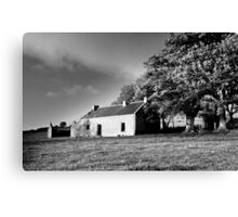 Black & white of the old house.  Canvas Print