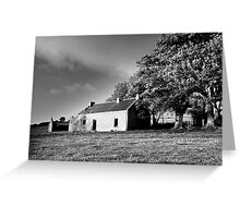 Black & white of the old house.  Greeting Card