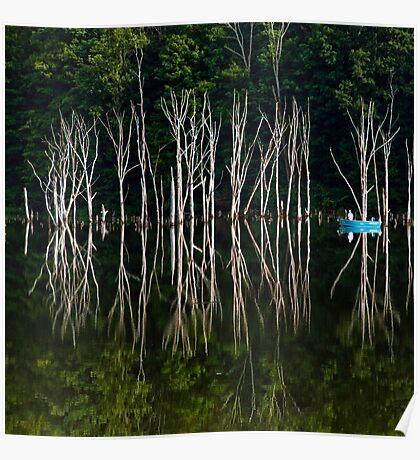 Boat on Lake Poster