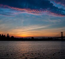 Philadelphia Skyline Silhouette by Michael Mill