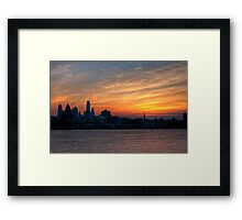 Philadelphia Skyline at Sunset Framed Print