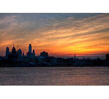 Philadelphia Skyline at Sunset Photographic Print