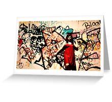 Graffiti Wall - Jasmine Allen Greeting Card