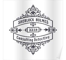 Consulting Detective (blue) Poster