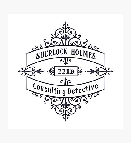 Consulting Detective (blue) Photographic Print