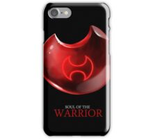 Soul of the Warrior -black iPhone Case/Skin