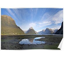 Milford Sound Puddle Poster