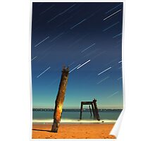 Cat Bay Star Trails Poster