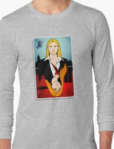 Olivia VS Fauxlivia   Fringe Long Sleeve T-Shirt
