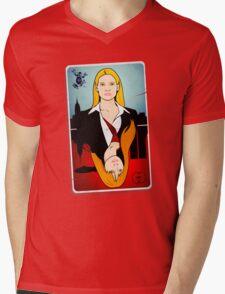 Olivia VS Fauxlivia | Fringe Mens V-Neck T-Shirt