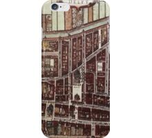 Replica city map of Delft from 1649  iPhone Case/Skin