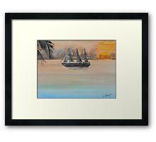 Sunset Cruise Framed Print