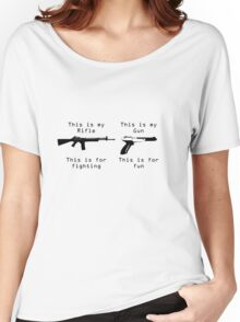 This is my gun Women's Relaxed Fit T-Shirt
