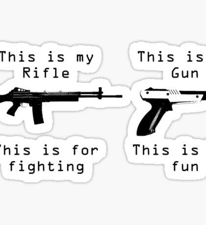 This is my gun Sticker