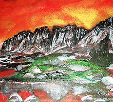 High Mountain Lake Glaciers  by Laurel Sobol