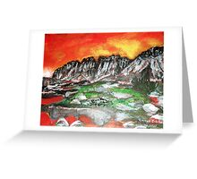 High Mountain Lake Glaciers  Greeting Card
