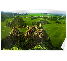 View2 from Hang Mua Temple, Ninh Binh, Vietnam. Poster