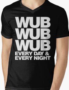 wub wub wub every day & every night (white) Mens V-Neck T-Shirt