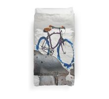 Paper Bicycle Duvet Cover