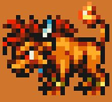 Nanaki / Red XIII sprite - FFRK - Final Fantasy VII (FF7) by Deezer509