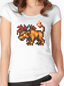 Nanaki / Red XIII sprite - FFRK - Final Fantasy VII (FF7) Women's Fitted Scoop T-Shirt