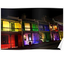 Colourful apartments Poster