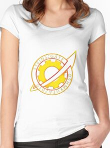Steins;Gate Pin Badge Women's Fitted Scoop T-Shirt