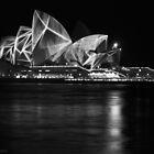 Opera House at Vivid Sydney B&W by rachomini
