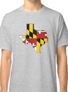 Texas outline Maryland flag Classic T-Shirt