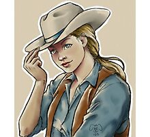 blonde cowgirl Photographic Print