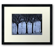 Series,#2,  of trees in forest, watercolor Framed Print